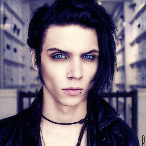 Andy Biersack BVB would be the perfect vampire. I mean look at that face. The eyes, bone structure, the intensity of the gaze; it's otherworldly!
