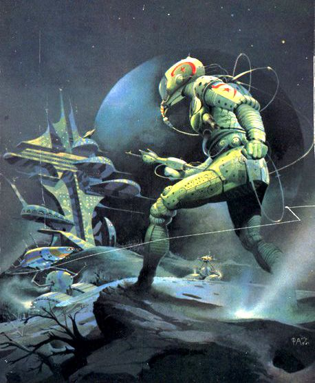 I found this artist, Peter Andrew Jones, while searching for Andrew Jones. I like this guy's work much more, but he doesn't have nearly as much work as I'd like to see. Regardless, I love his color palette. It's reminiscent of Frazetta's work.