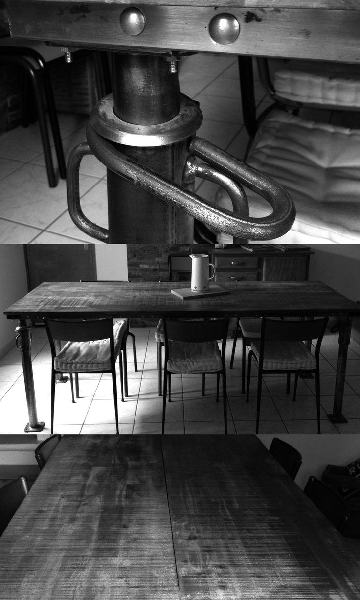 les 9 meilleures images du tableau mes realisations style industriel et d tournement d. Black Bedroom Furniture Sets. Home Design Ideas