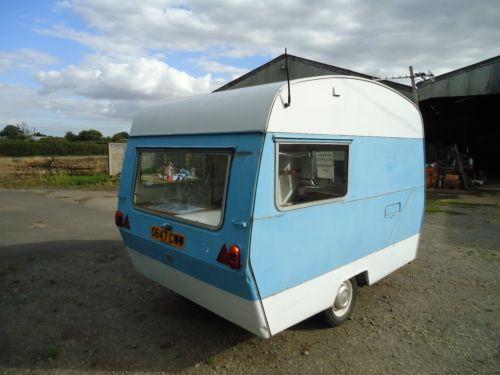 Vintage Sprite 2 berth Caravan for sale as retro project £75 on eBay!