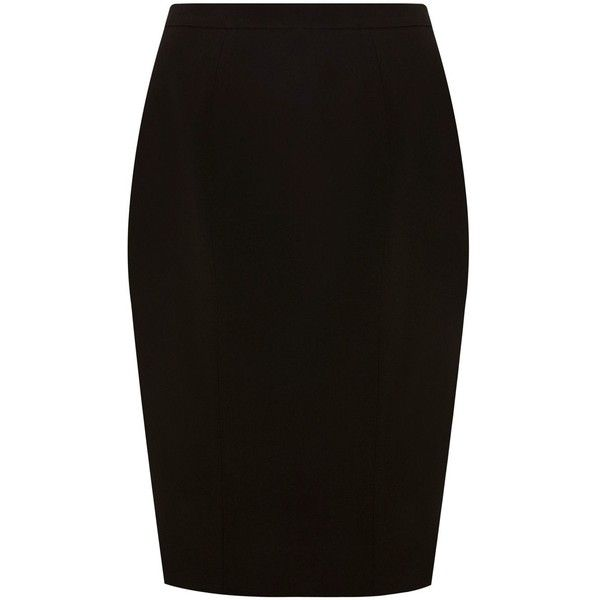 Coast Hope pencil skirt ($54) ❤ liked on Polyvore featuring skirts, pencil skirt, saias, bottoms, black, coast skirts, pencil skirts, lined skirt, knee length pencil skirts and a-line skirts