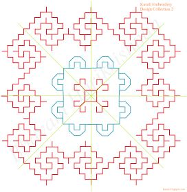 Kasuti Embroidery Tutorial: 3 in 1 Design For Kasuti Embroidery (Indian embroidery)