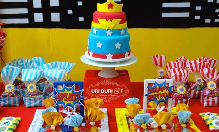 Wonder Woman Birthday Party via Kara's Party Ideas | KarasPartyIdeas.com #wonderwomanparty (14)