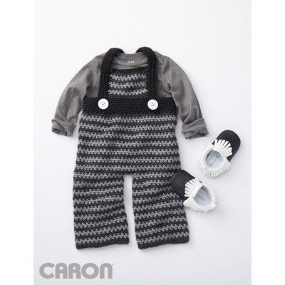 Funny Dungarees | Baby Shower| Summer Baby | Caron | Free Pattern | Yarnspirations