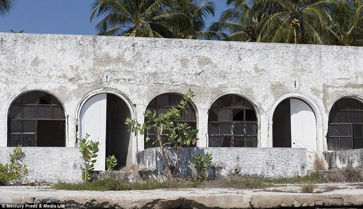 Abandoned: The whitewashed property was one of the grandest on the islands, reflecting how Pablo Escobar was the country's most successful drug baron, until his death in 1993