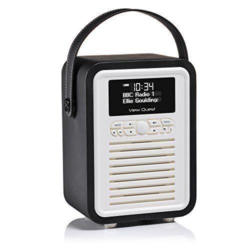 View Quest Retro Mini DAB+ Radio and Bluetooth Speaker - Black