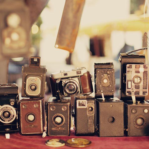 Old Cameras (Vintage and Retro Film Cameras Collection)