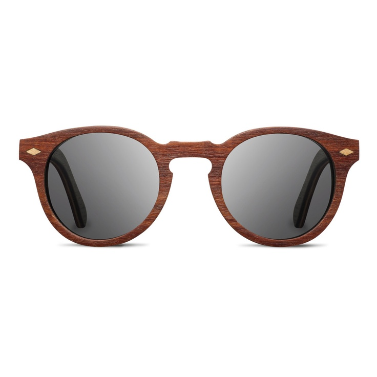 Wooden Mahogany Polarized Sunglasses - light, durable and make from sustainable harvested wood.