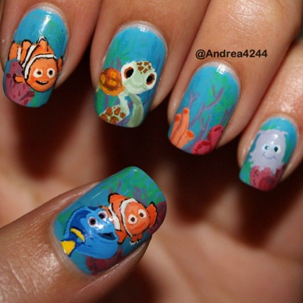 223 best nail art pop culture and cartoons images on pinterest wow that would take a loong time find this pin and more on nail art prinsesfo Gallery