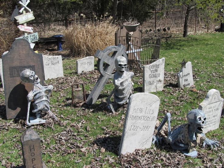 halloween graveyard corpses