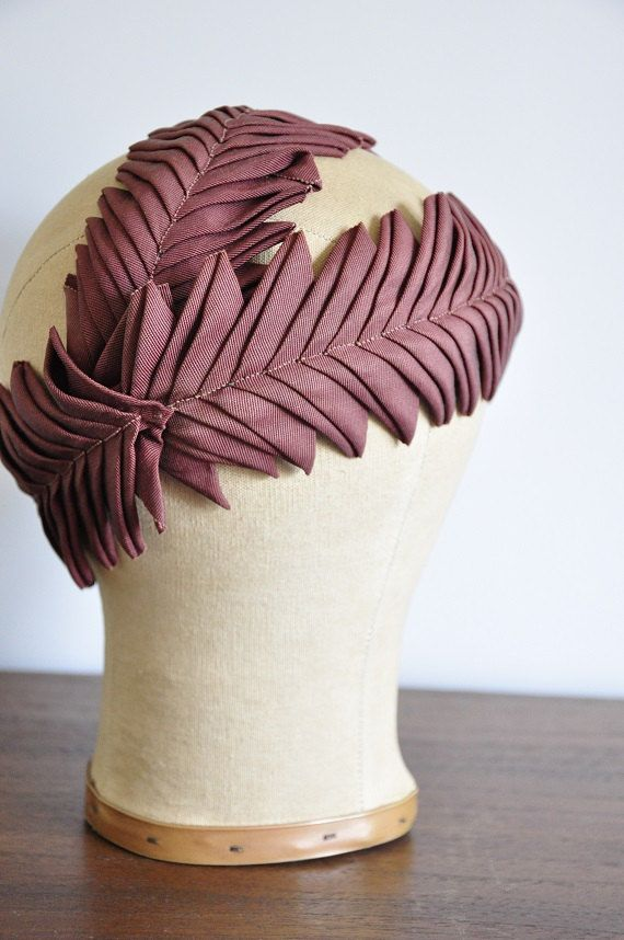vintage rare 1930s hat/ rare 30s grosgain hat/ athena