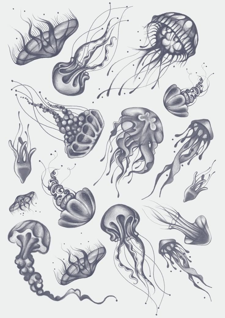 Small Jellyfish Tattoos Designs