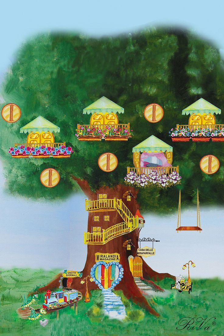L'albero casa delle mirafarfalle nel paese incantato di Miralandia. #paeseincantato @rosalucebooks
