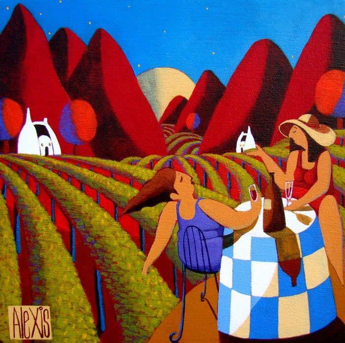Вино & виноградников (700x696, 510Kb)