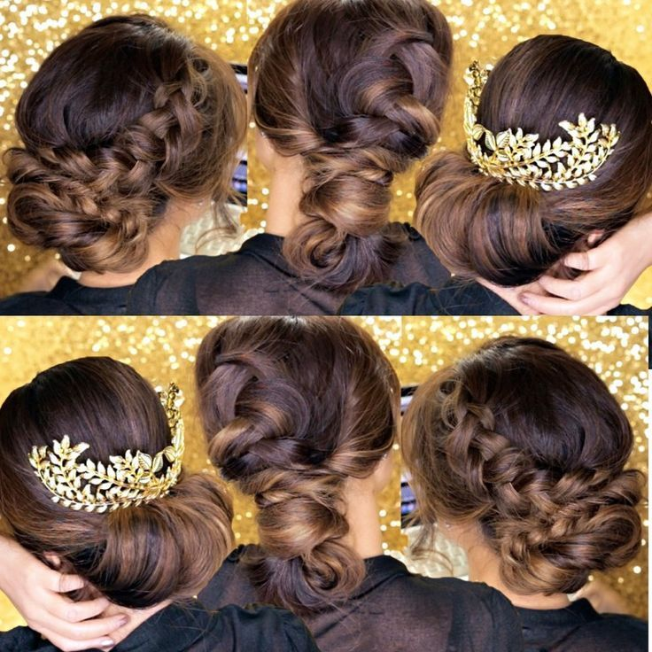 3-Minute Bubble Messy Bun with Braids   Easy Lazy Hairstyles,  #3Minute #braids #Bubble #Bun ...