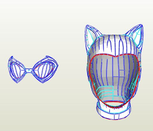 Cat Woman - Mask - Foam Pepakura File on Onekura. Make your own costumes and accessories.