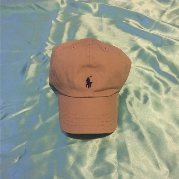 Kids polo hat Tan/navy kids Ralph Lauren polo hat. In great condition. Polo by Ralph Lauren Accessories Hats