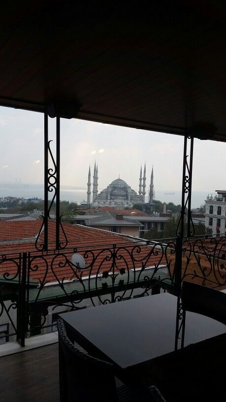 View of Sultanahmet Mosque from Breakfast Room