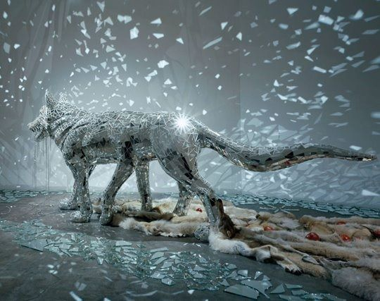 This morning we take a look at the work of Japanese artist Tomoko Knoike. Tomoko is a graduate of the Tokyo National University of Fine Arts where he studied traditional Japanese painting. He came to prominence through Nihonga-styled surreal [paintings and installations that often feature wolves. He has also worked as a toy and furniture designer!  via ineedaguide