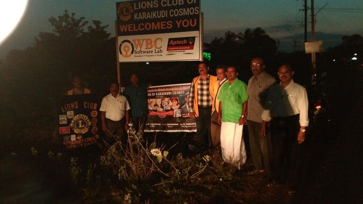 A brand building activity with Lions club- Welcome board near science block and direction board to Lions club of Karaikudi Cosmos.