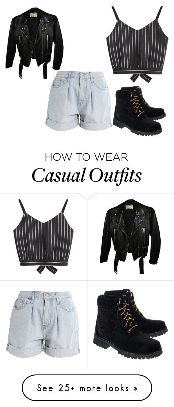 """casual e rock"" by fabiana-c-pergher on Polyvore featuring Levi's, Acne Studios and Off-White"