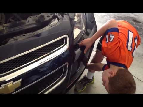 How to fix a headlight on a 2009 Chevy Malibu done by a 7 year old - YouTube