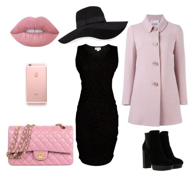 """""""Untitled #11"""" by terka-zelenkova on Polyvore featuring Hogan, Velvet by Graham & Spencer, Lime Crime, San Diego Hat Co. and RED Valentino"""