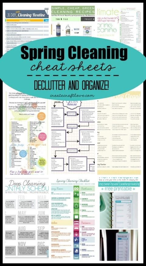 81 best Free Cleaning Printables images on Pinterest Cleaning - sample spring cleaning checklist