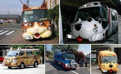 Schoolbussen in Japan