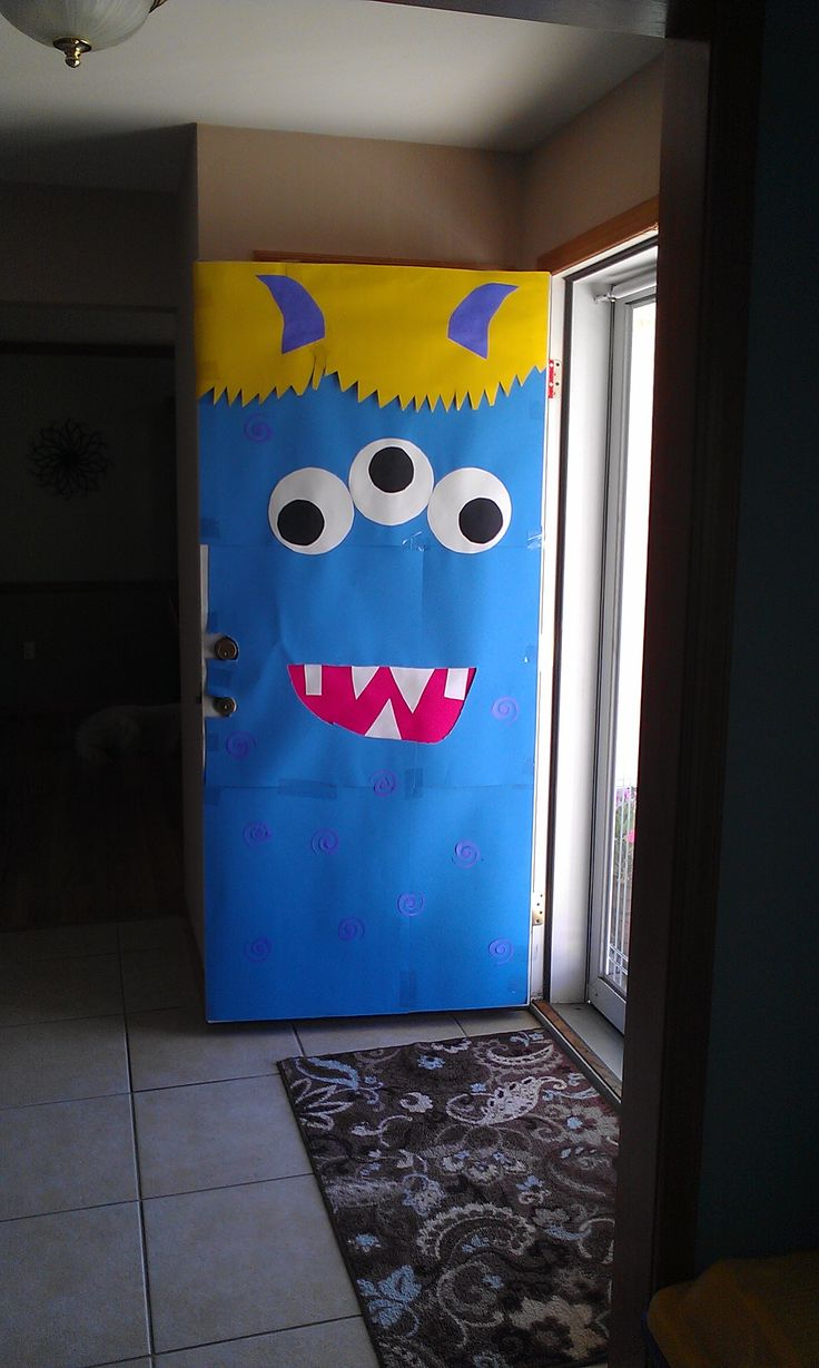 Monster door - choose your own colors and create your own monster!