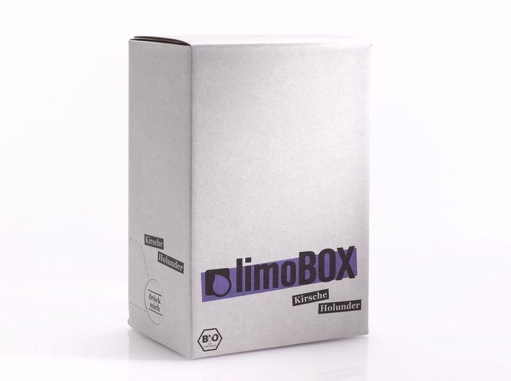 """limoBOX - """"Kirsche Holunder"""". Leckere Bio-Limonade ganz einfach zum selber machen und mixen!"""