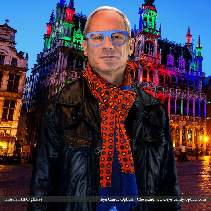 Tim is living large in Brussels wearing his new BOLD designer glasses by Theo. Eye Candy – The Grand Place of the Finest European Eyewear Fashion. Eye Candy Optical Cleveland – The Best Glasses Store! (440) 250-9191 - Book an Eye Exam Online or Over the Phone  www.eye-candy-optical.com