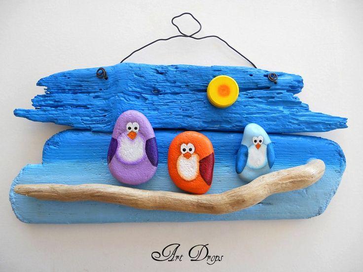 blog Art Drops pebbles and driftwood <3