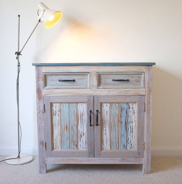 beach hut style cupboard reclaimed wood by cambrewood | notonthehighstreet.com