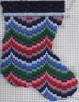 quilty needlepoint bargello mini-sock Get the pattern free at: http://www.nuts-about-needlepoint.com/quilty-bargello-mini-sock-free-pattern/