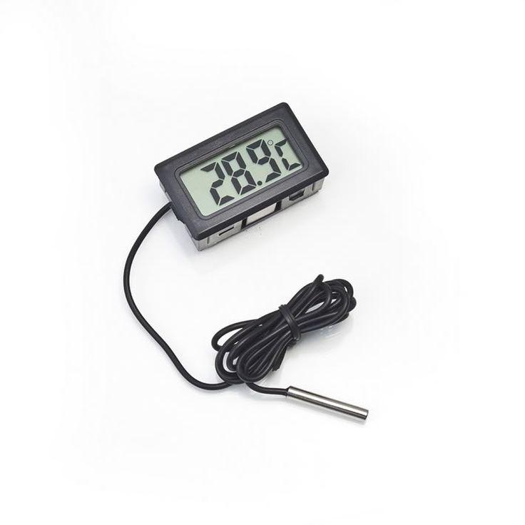 1 Unid LCD Termómetro Digital para la Nevera Congelador Temperatura-50 ~ 110 grados Termómetro Envío Gratis 1 m Longitud de La línea