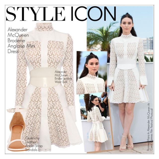 """""""Rooney Mara 2"""" by martso ❤ liked on Polyvore featuring Alexander McQueen, Givenchy, contestentry, styleicon and rooneymara"""