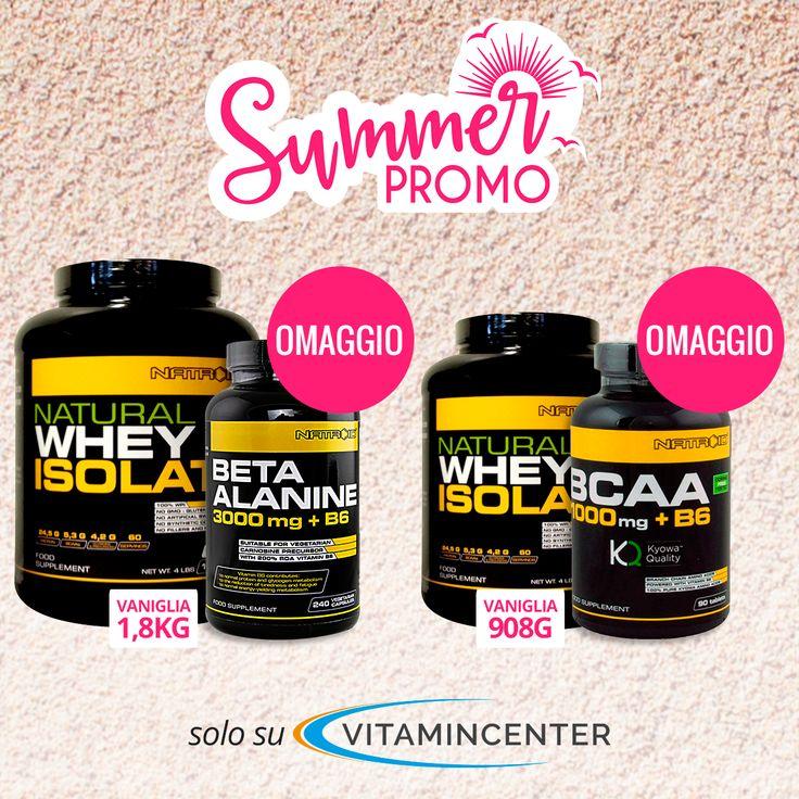 Le #SUMMER promo sono iniziate!  >> Acquista 1 NATURAL WHEY ISOLATE Natroid da 1.8 Kg gusto Vaniglia, in OMAGGIO 1 BETA ALANINE da 240 cps                       >> Acquista 1 NATURAL WHEY ISOLATE Natroid da 908 gr gusto Vaniglia, in OMAGGIO 1 BCAA da 90 cpr                                            Cosa aspetti? ACQUISTA su #VitaminCenter