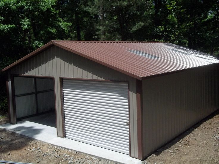 Best Double A Frame Garage With Vertical Roof R B Metal 400 x 300