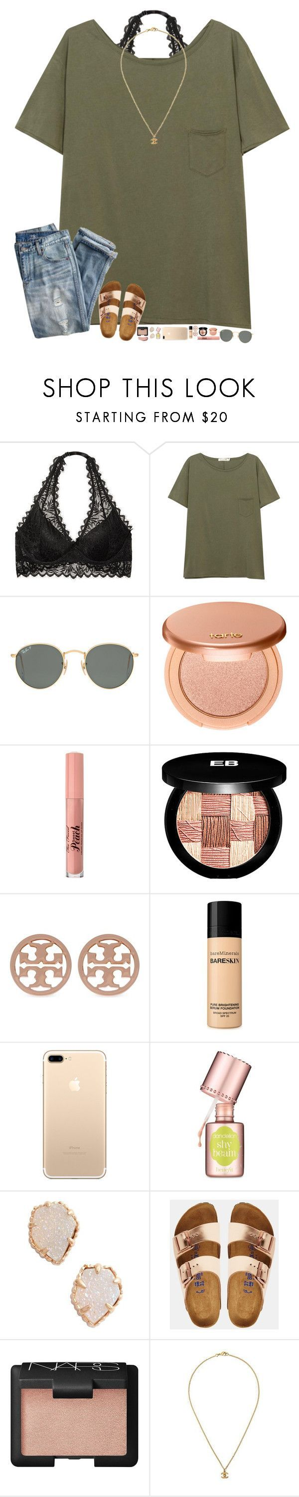 """""""happy st. paddys day!"""" by hopemarlee ❤ liked on Polyvore featuring Victoria's Secret, rag & bone/JEAN, Ray-Ban, J.Crew, tarte, Too Faced Cosmetics, Edward Bess, Tory Burch, Bare Escentuals and Benefit"""