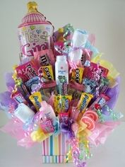 Its a girl candy bouquet
