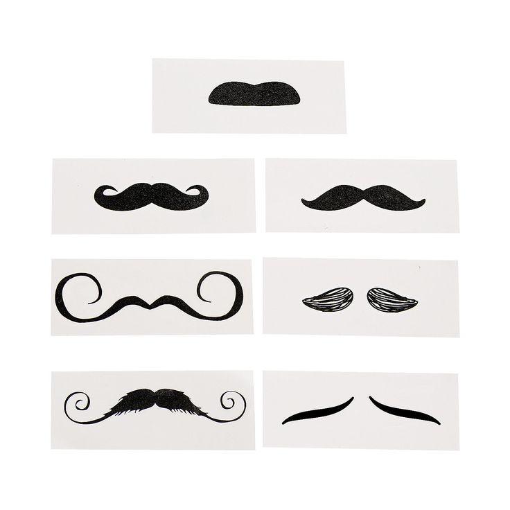 Life-Size+Mustache+Tattoo+Assortment+-+OrientalTrading.com $5 per dozen