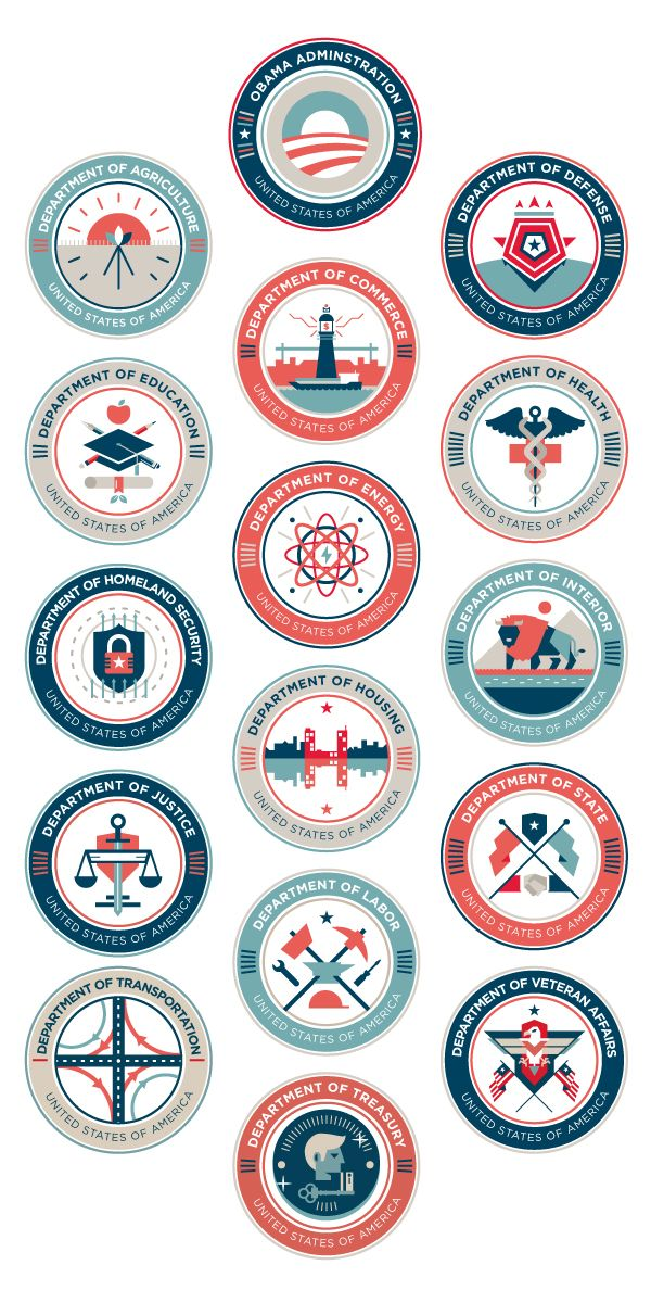 US Department Seals (student work) — Ricky Linn