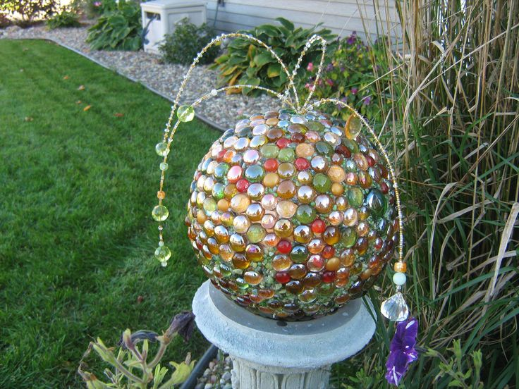 Mosaic bowling ball with a little bling