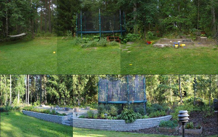 Omakotitalon #takapiha #ennenjajälkeen - #backyard #beforeandafter
