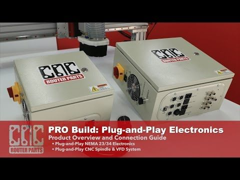 PRO CNC Build Series: Plug-and-Play CNC Electronics and Spindle for your CNC Router Parts Machine - YouTube