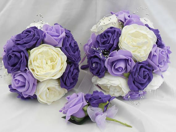 lilac ivory purple package peonies roses bridal package brides