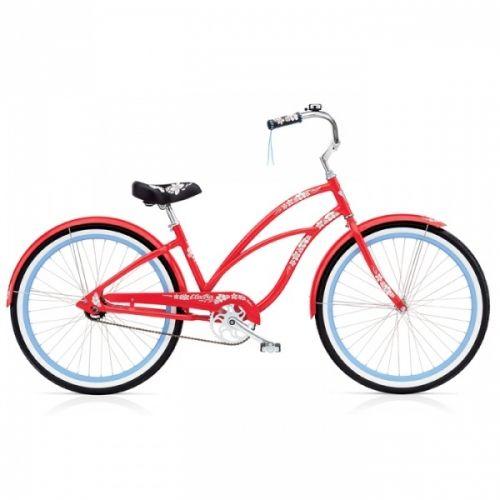 Vær+unik+-+dette+er+din+røde+sykkel+med+blomstermønster.+Sykkelen+har+et+urbant+hjerte+med+egenskaper+du+fort+blir+glad+i+enten+du+sykler+i+travle+gater+eller+kruser+langs+promenaden+en+fin+søndags+kveld.+Fargen+er+klar+rød+og+felgen+dus+blå.+Vi+elsker+kombinasjonene+i+Hawaii+serien.+Hawaii+har+mange+lekre+detaljer+og+du+finner+de+igjen+på+sadel,+håndtak+og+i+lakken. Kjennetegnet+til+cruisere+er+et+ekstra+bredt+styre+som+kommer+mot+deg+i+en+slak+bue+og+sete+litt+lenger+bak+enn+normal...