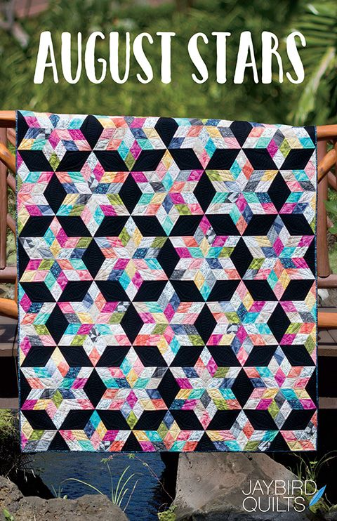 Meet my latest pattern, August Stars!           Quilt Details    Fabric is Spectrum by V&Co  for Moda    Pattern - August Stars, JBQ 165   ...