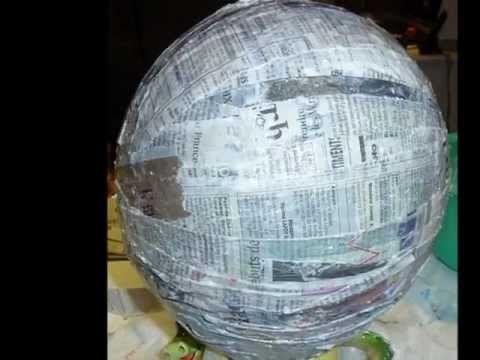Como hacer una Piñata Balón de Futbol!!.wmv - YouTube